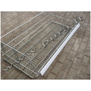 Data strip for wire shelf and basket